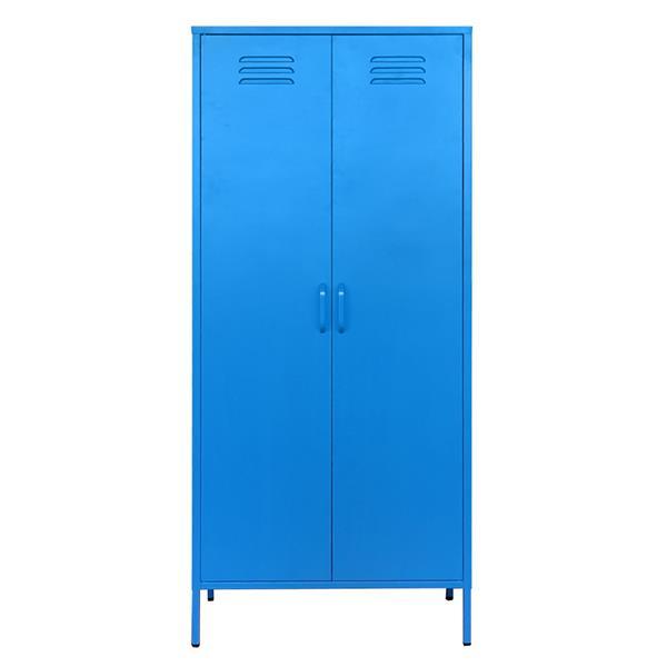 Nextdeco ντουλάπα μπλε μεταλλική δίφυλλη Υ170x76x50εκ.