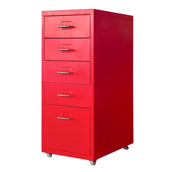 Nextdeco συρταριέρα κόκκινη μεταλλική με 5 συρτάρια Υ69x28x41εκ.
