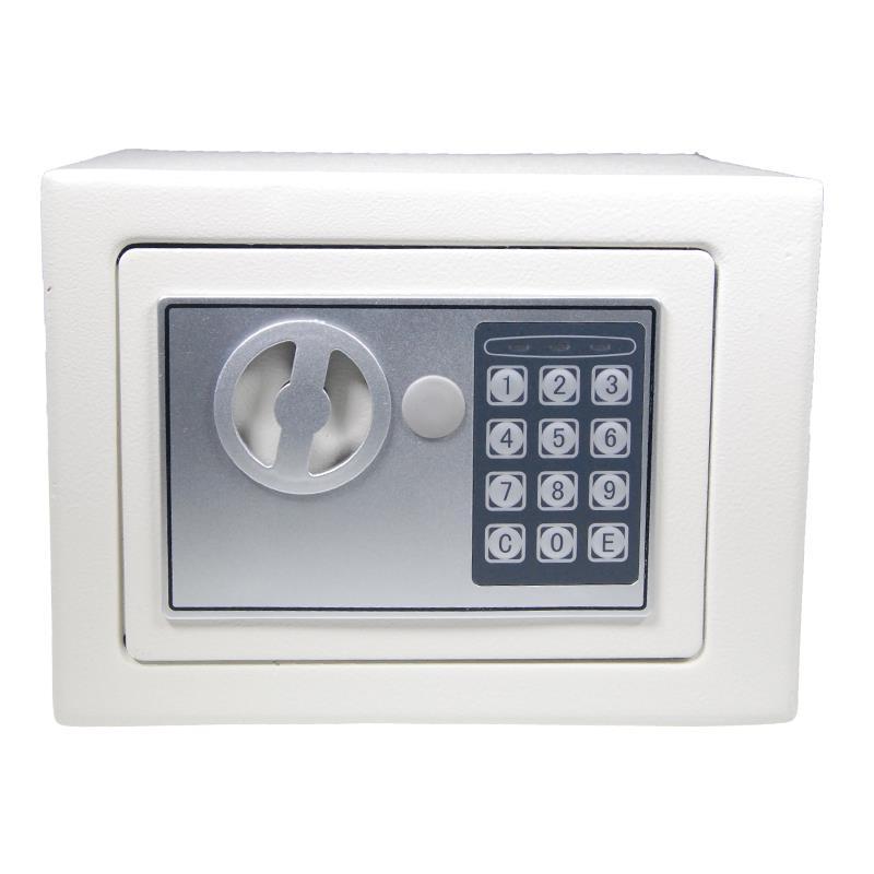 Χρηματοκιβώτιο με συνδυασμό - κλειδί λευκό Υ20x24x18εκ