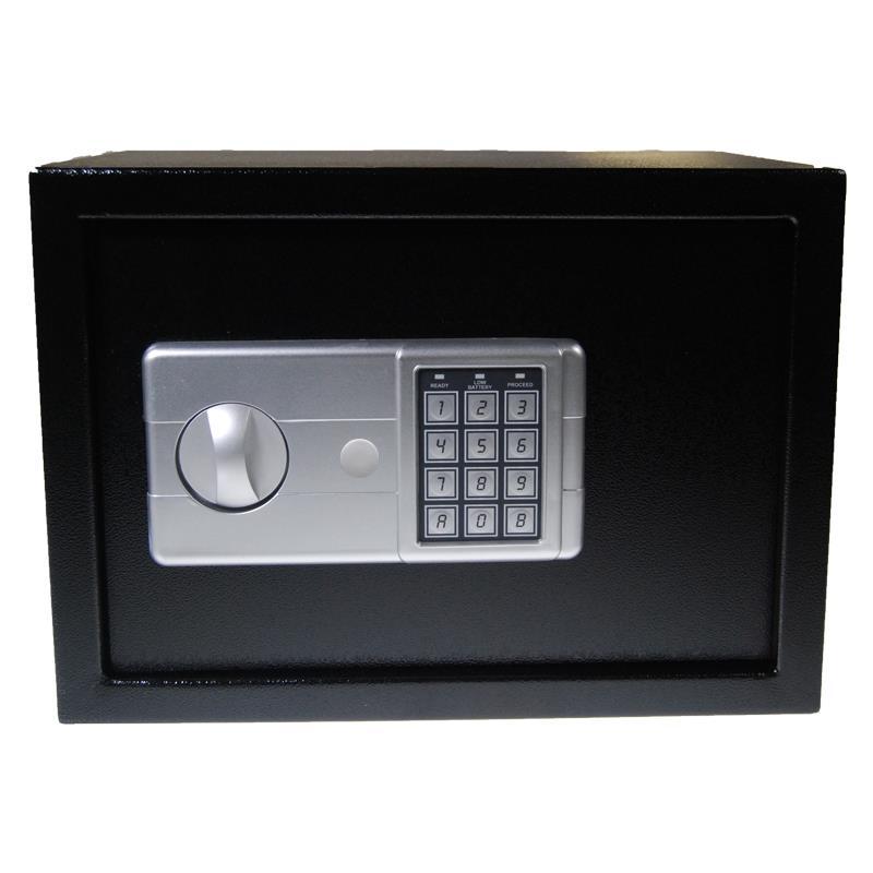 Χρηματοκιβώτιο με συνδυασμό - κλειδί  μαύρο Υ20x24x18εκ
