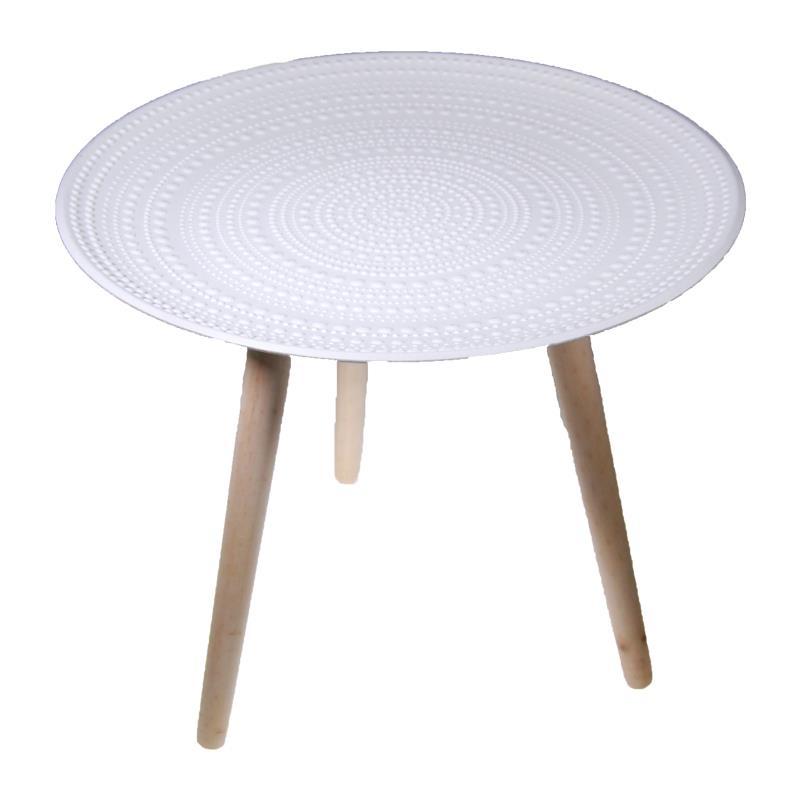 Τραπέζι ξύλινο στρόγγυλο Υ42x40εκ. με 3 πόδια