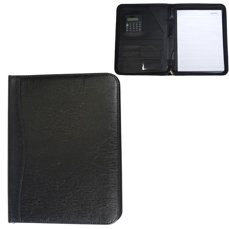 Portfolio με φερμουάρ μαύρο 25,5x32,5x2εκ.