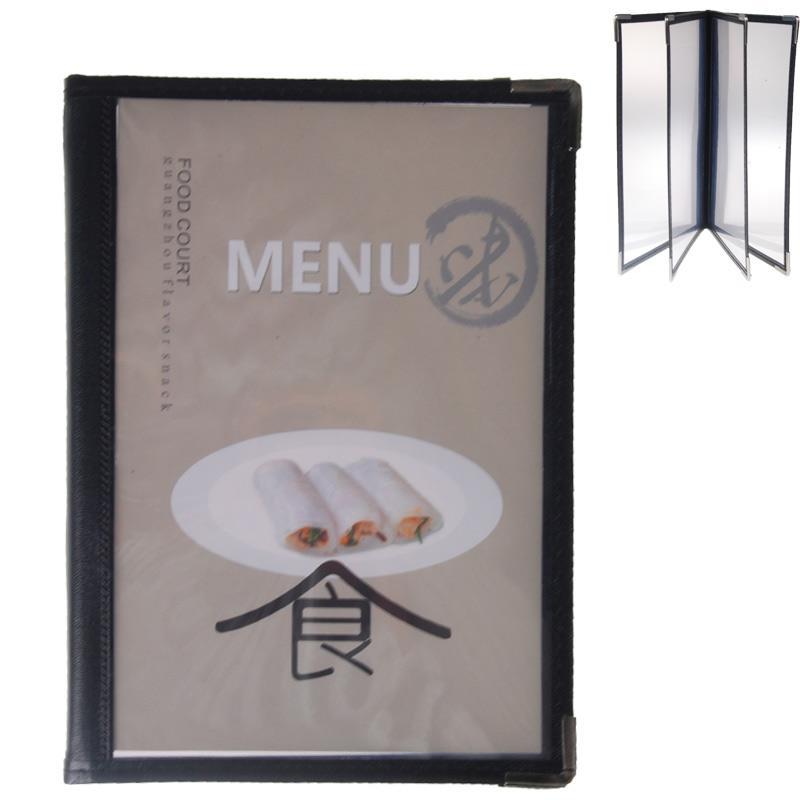 Μενού εστιατορίου μαύρο Υ23,5x16,5εκ. για 8 σελίδες