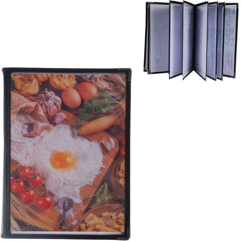 Μενού εστιατορίου μαύρο 29.7x21εκ. για 16 σελίδες