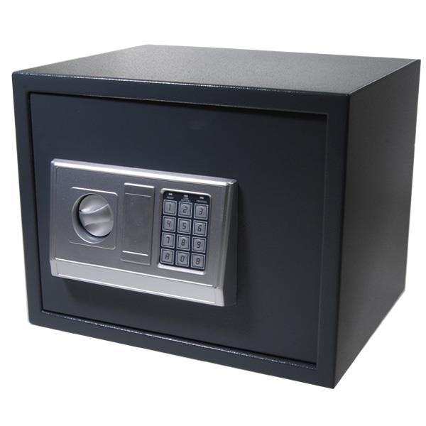 Χρηματοκιβώτιο με συνδυασμό και κλειδί γκρι Υ30x38x30εκ. βάθος