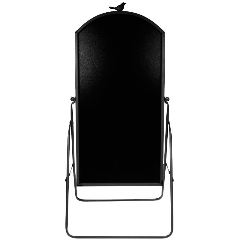 Πίνακας μαύρος μενού εστιατορίου με μαύρο περίγραμμα Υ110x47x2,5εκ.