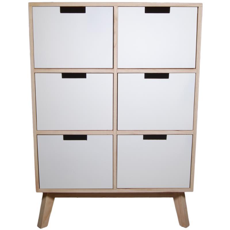 Συρταριέρα με 6 συρτάρια ξύλινη Y81,5x57x30εκ. βάθος