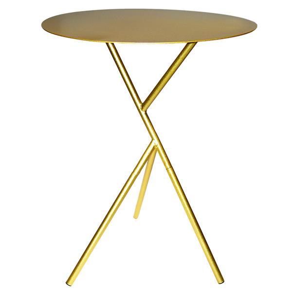 Τραπέζι μεταλλικό χρυσό Υ57εκ. και διάμετρος 45εκ.