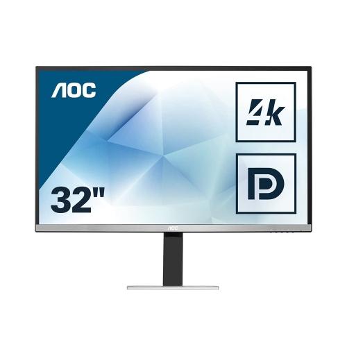AOC U3277FWQ Led 4K UHD Monitor 32'' with speakers (U3277FWQ) (AOCU3277FWQ)