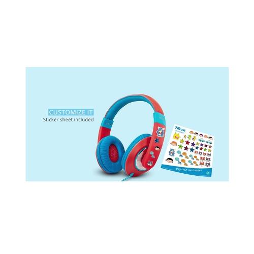 Trust Sonin Kids Headphones - red (23585) (TRS23585)