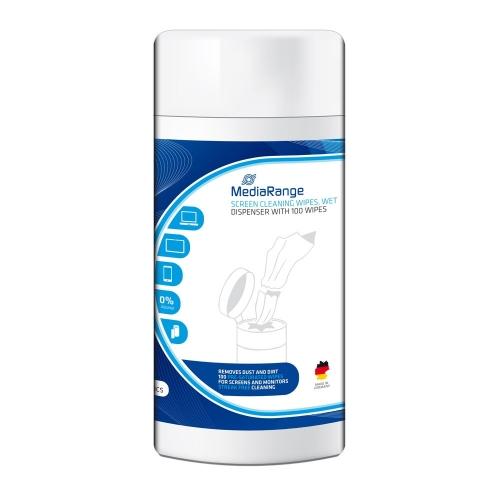 MediaRange Screen Cleaning Wipes Wet (100) (MR720)