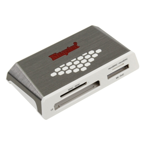 Kingston FCR-HS4 USB 3.0 Card Reader (Γκρι) (FCR-HS4) (KINFCRHS4)