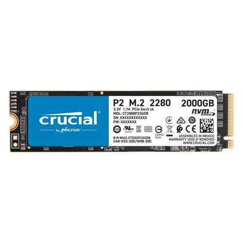 Crucial SSD P2 2TB 3D NAND NVME PCIe M.2 (CT2000P2SSD8) (CRUCT2000P2SSD8)