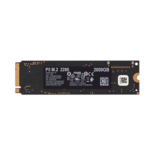 Crucial SSD P5 2TB 3D NAND NVME PCIe M.2 (CT2000P5SSD8) (CRUCT2000P5SSD8)