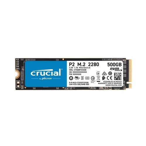 Crucial SSD P2 500GB 3D NAND NVME PCIe M.2  (CT500P2SSD8) (CRUCT500P2SSD8)