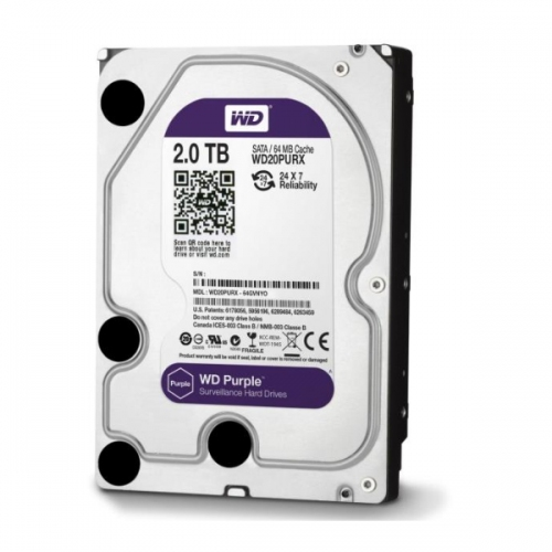 Western Digital Εσωτερικός Σκληρός Δίσκος 2 TB (Purple 3.5