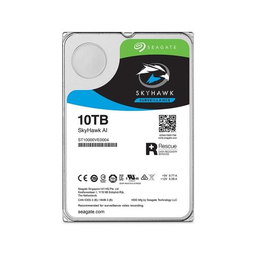 Εσωτερικός Σκληρός Δίσκος SEAGATE 3.5'' 10TB Sata III SkyHawk AI  (ST10000VE0008) (SEAST10000VE0008)