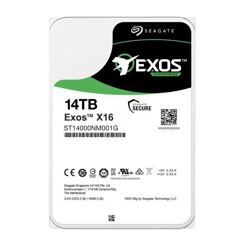 Εσωτερικός Σκληρός Δίσκος SEAGATE 3.5'' 14TB Exos X16 12 Gb/s SAS (ST14000NM002G) (SEAST14000NM002G)
