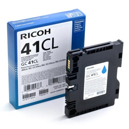 RICOH GC 41CL GEL INK CYAN 600p (GC-41CL)  (405766) (RICGC41CL)