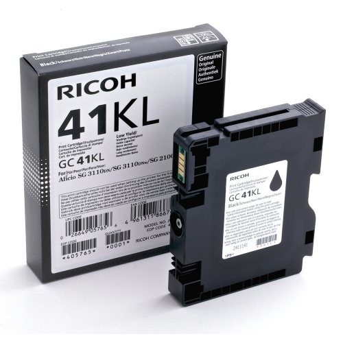 RICOH GC 41KL GEL INK BLACK 600p (GC-41KL)  (405765) (RICGC41KL)