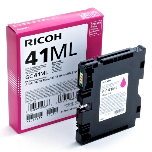 RICOH GC 41ML GEL INK MAGENTA 600p (GC-41ML)  (405767) (RICGC41ML)