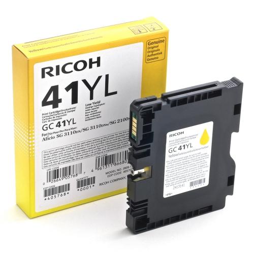 RICOH GC 41YL GEL INK YELLOW 600p (GC-41YL)  (405768) (RICGC41YL)