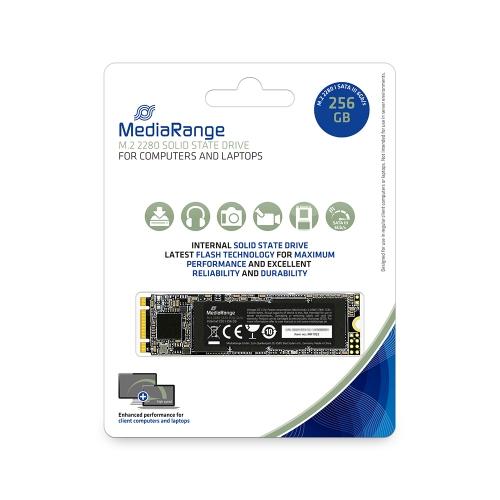 MediaRange Internal M.2 2280 solid state drive, SATA 6 Gb/s, 256GB (MR1022)