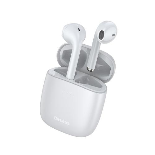 Baseus W04 Pro Earbud Bluetooth Handsfree Λευκό (NGW04P-02) (BASNGW04P02)