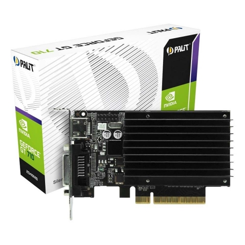 VGA Palit GeForce GT 710 2GB GDDR3 passive LP (NEAT7100HD46H-2080H) (PALNEAT7100HD46H-2080H)