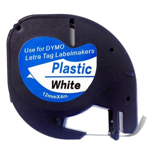 Πλαστική Ταινία Ετικετογράφου DYMO 91201 12 mm x 4 m (Λευκή) (DYMO91201)