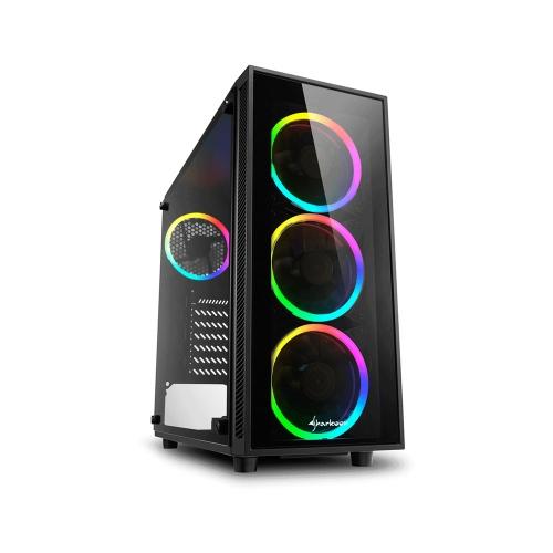 Sharkoon TG4 RGB White PC Case (TG4RGB) (SHRTG4RGB)