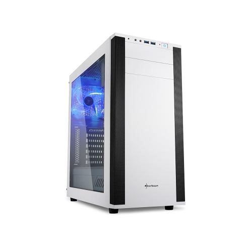 Sharkoon M25-W White PC Case (M25-W) (SHRM25-W)