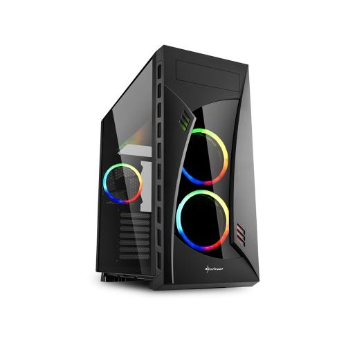 Sharkoon NightShark RGB PC Case (NIGHTSHARKRGB) (SHRNIGHTSHARKRGB)