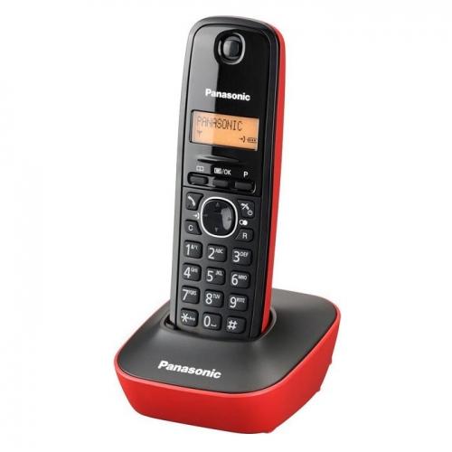Ασύρματο Τηλέφωνο Panasonic KX-TG1611GRR Black-Red (KX-TG1611GRR) (PANKXTG1611GRR)