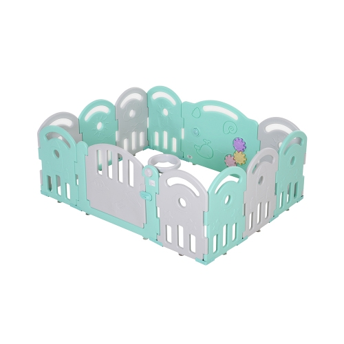 Homcom Playpen για παιδιά 6-36 μηνών Ασφαλές Πλαίσιο με πόρτα 162 x 122 x 63cm (431-041) (HOM431-041)