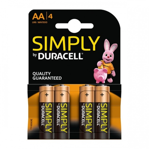 Αλκαλική Μπαταρία Duracell Simply AA 1.5V (LR6) (4Pack) (DUR81478829)
