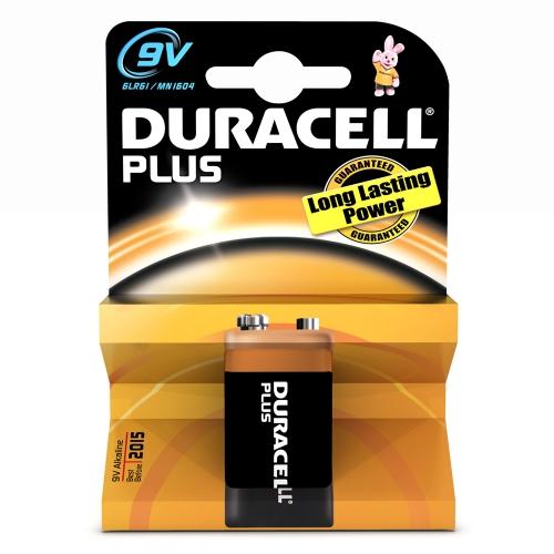 Αλκαλική Μπαταρία Duracell Plus 9V (6LR61) (DUR81427226)