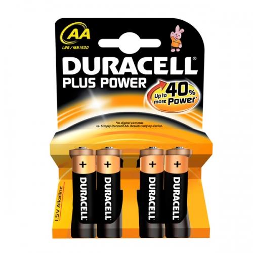 Αλκαλική Μπαταρία Duracell Plus AA 1.5V (LR6) (4 Pack) (DUR81417775)