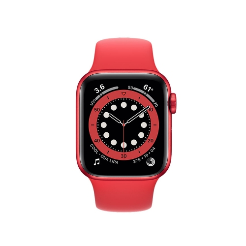 Watch Apple Series 6 GPS 40mm Red Aluminum Case with Red Sport Band (M00A3NF/A)