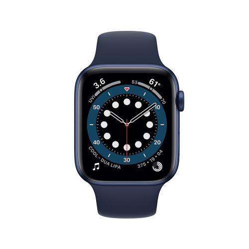 Watch Apple Series 6 GPS 44mm Blue Aluminum Case with Deep Navy Sport Band (M00J3NF/A)