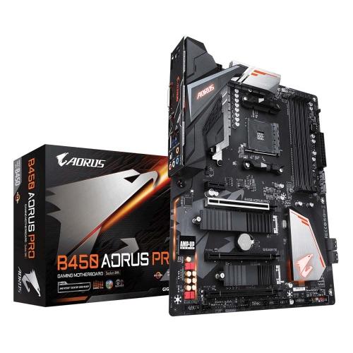 Gigabyte Motherboard AM4 Aorus B450 Pro (rev. 1.0) (B450 AORUS PRO) (GIGB450AORUSPRO)