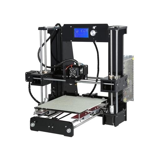 REAL 3D Printer A6 - Prusa i3 pro DIY kit Black (PRUSABASEDKIT) (REFPRUSABASEDKIT)