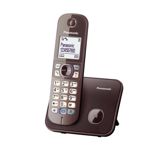 Ασύρματο Τηλέφωνο Panasonic KX-TG6811GA Mocca-Brown (KX-TG6811GA) (PANKX-TG6811GA)