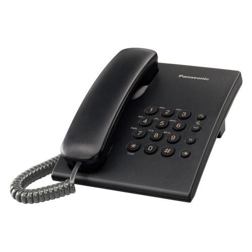 Ενσύρματο Τηλέφωνο Panasonic KX-TS500FXB Black (KX-TS500FXB) (PANKXTS500FXB)