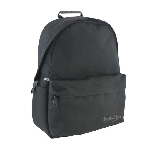 Τσάντα Πλάτης Εφηβική Maxbuddies Μαύρη με 2 Θήκες