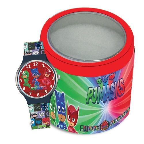 Ρολόι Χειρός PJ Masks Αναλογικό σε Μεταλλικό Κουτί