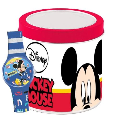 Ρολόι Χειρός Disney Mickey Mouse Αναλογικό σε Μεταλλικό Κουτί