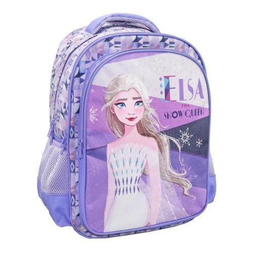 Τσάντα Πλάτης Δημοτικού Disney Frozen 2 Elsa The Snow Queen με 3 Θήκες