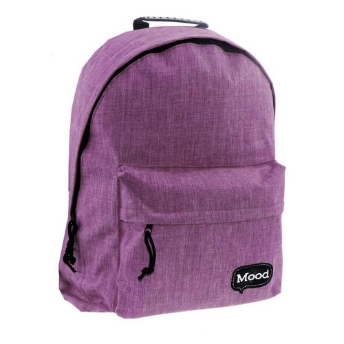 Τσάντα Πλάτης Εφηβική Mood Sigma Μωβ με 2 Θήκες