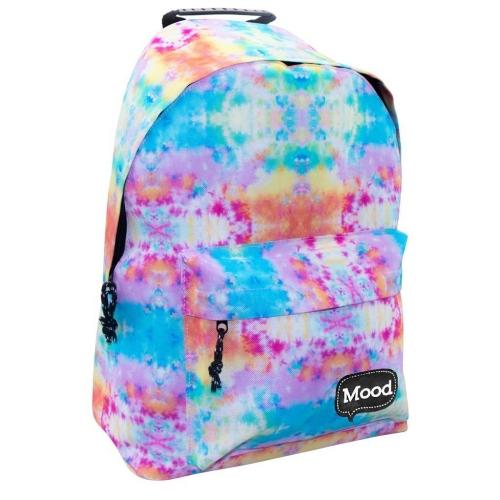 Τσάντα Πλάτης Εφηβική Mood Sigma Παλ Χρώματα με 2 Θήκες